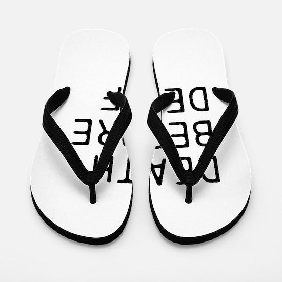 DEATH BEFORE DECAF Flip Flops