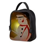 Frosted Snowman Ornament Neoprene Lunch Bag
