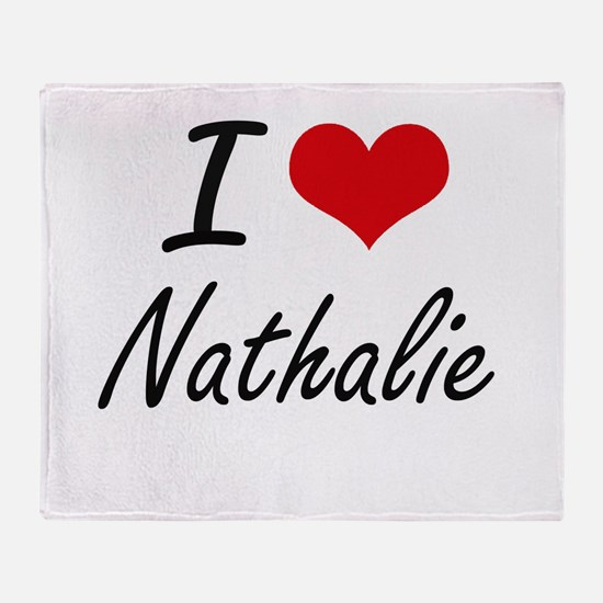 I Love Nathalie artistic design Throw Blanket