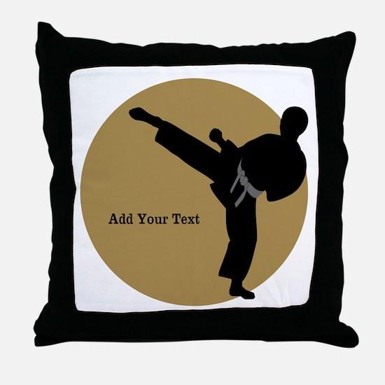 Karate Boy Throw Pillow