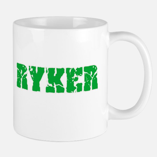 Ryker Name Weathered Green Design Mugs