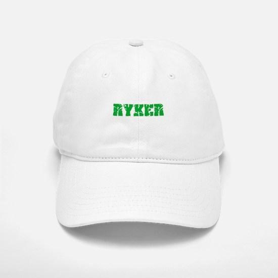 Ryker Name Weathered Green Design Baseball Baseball Cap