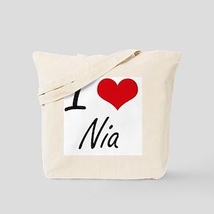 I Love Nia artistic design Tote Bag