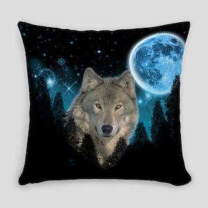 Wolf StarLight Everyday Pillow