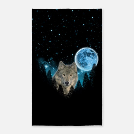 Wolf StarLight Area Rug