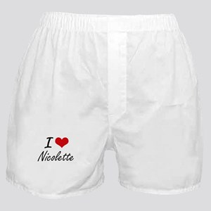 I Love Nicolette artistic design Boxer Shorts