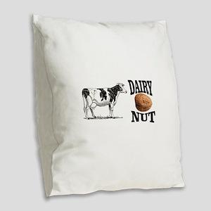 Dairy Nut Burlap Throw Pillow