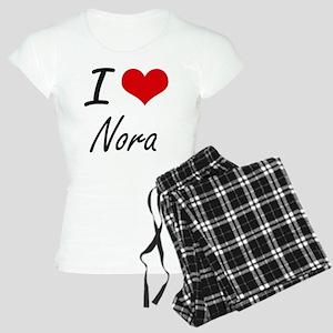 I Love Nora artistic design Women's Light Pajamas