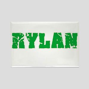 Rylan Name Weathered Green Design Magnets