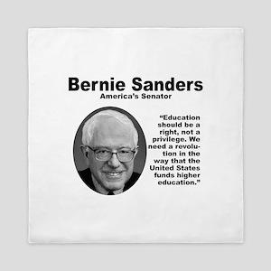 Sanders: Education Queen Duvet