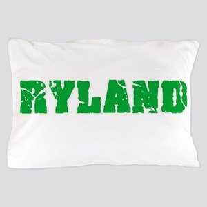 Ryland Name Weathered Green Design Pillow Case