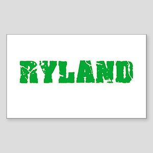 Ryland Name Weathered Green Design Sticker