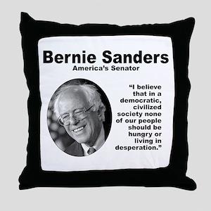 Sanders: Civilized Throw Pillow