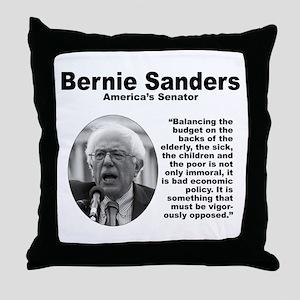 Sanders: Budget Throw Pillow