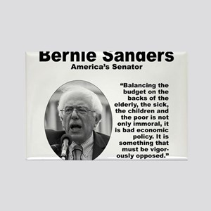 Sanders: Budget Rectangle Magnet
