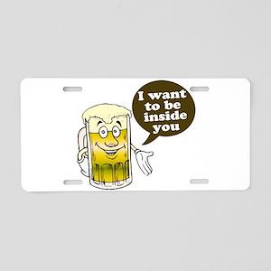 Beer Inside You Aluminum License Plate