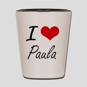 I Love Paula artistic design Shot Glass