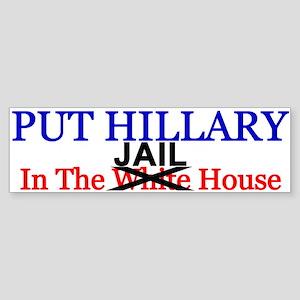 Hillary Jail House Bumper Sticker