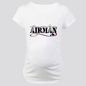 Head over combat boots: Airman Maternity T-Shirt