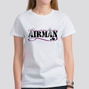 Head over combat boots: Airman Women's T-Shirt