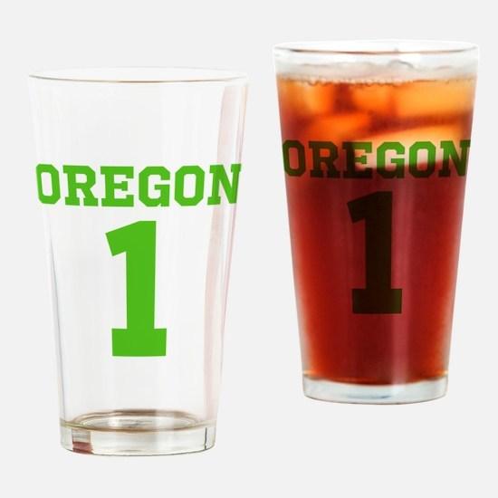 OREGON #1 Drinking Glass