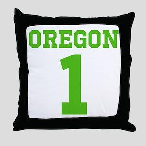 OREGON #1 Throw Pillow