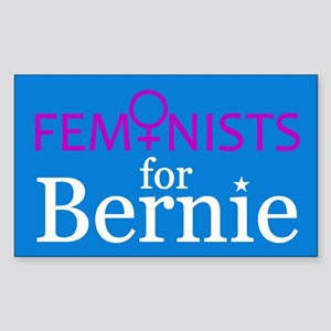 Feminists For Bernie Sticker (rectangle)