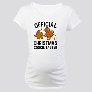 Official Christmas Cookie Taster Maternity T-Shirt