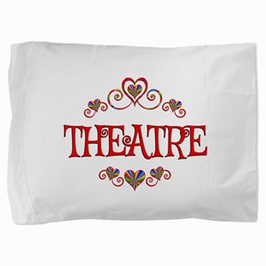 Theatre Hearts Pillow Sham