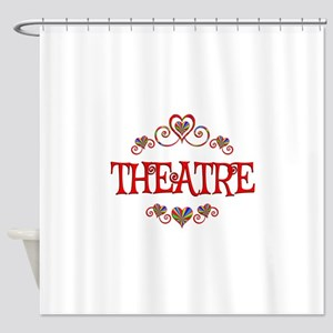 Theatre Hearts Shower Curtain