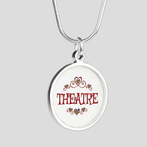 Theatre Hearts Silver Round Necklace