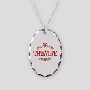 Theatre Hearts Necklace Oval Charm