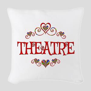 Theatre Hearts Woven Throw Pillow