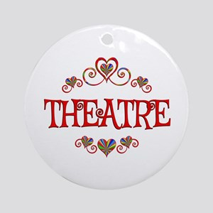Theatre Hearts Round Ornament