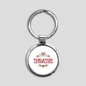 Theatre Hearts Round Keychain