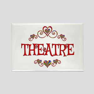 Theatre Hearts Rectangle Magnet