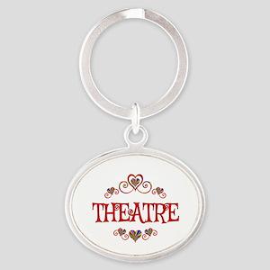 Theatre Hearts Oval Keychain