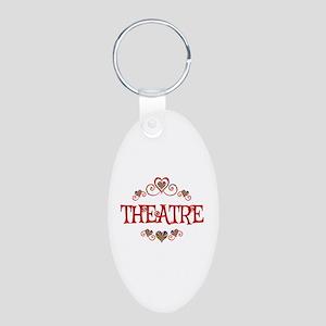 Theatre Hearts Aluminum Oval Keychain