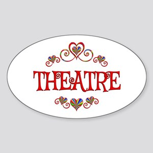 Theatre Hearts Sticker (Oval)