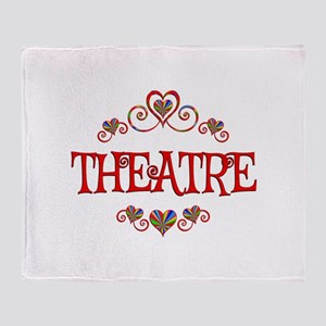 Theatre Hearts Throw Blanket