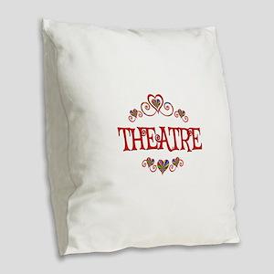 Theatre Hearts Burlap Throw Pillow