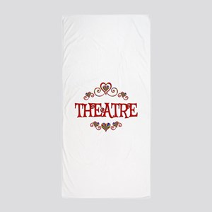 Theatre Hearts Beach Towel