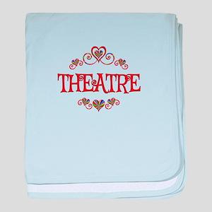 Theatre Hearts baby blanket