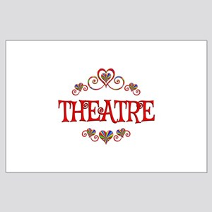 Theatre Hearts Large Poster