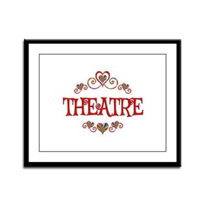Theatre Hearts Framed Panel Print
