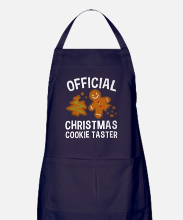 Official Christmas Cookie Taster Apron (dark)