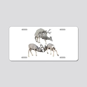 Rutting mule deer Aluminum License Plate