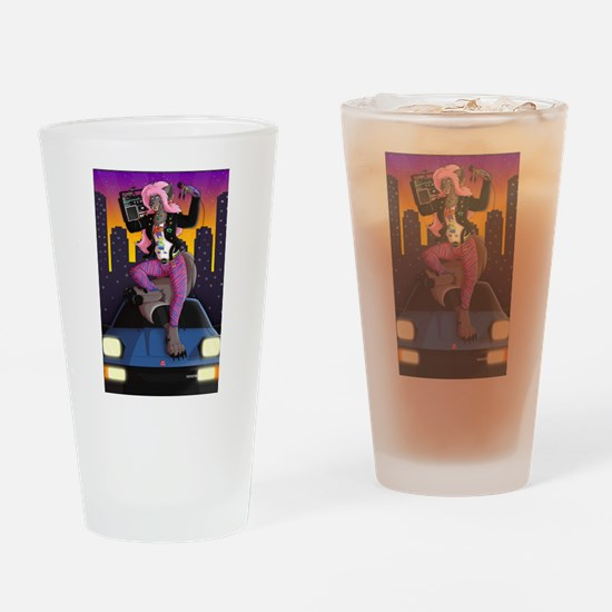 Feel The Beat Drop Drinking Glass
