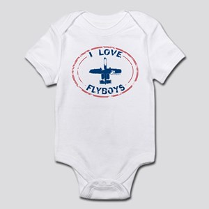 I Love Flyboys -red/blue Infant Bodysuit