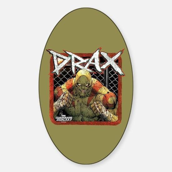 GOTG Drax Boxing Sticker (Oval)